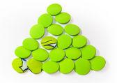 绿色 trinagle 按钮 — 图库照片