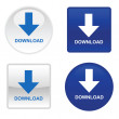 Royalty-Free Stock Vector Image: Four download buttons