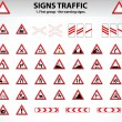 Royalty-Free Stock Vector Image: Signs Traffic Part One