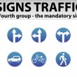 Stock Vector: Signs Traffic Part Four
