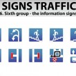Royalty-Free Stock Vector Image: Signs Traffic Part Six