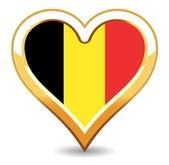 Heart Belgium Flag — Stock Vector