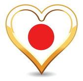 Heart Japan Flag — Stock Vector
