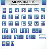 Signs Traffic Part Five — Stock Vector