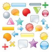 Set colored symbols — Stock Vector
