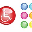 Stock Vector: Orb sign disability