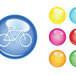 Orb sign bicycle — Stock Vector