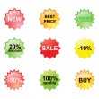 Stock Vector: Discount stickers