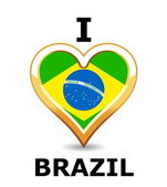 I love Brazil — Stock Vector