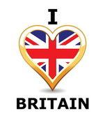 I love Britain — Stock Vector