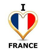 I love France — Stockvektor