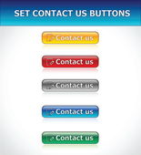 Set Contact Us Buttons — Stock Vector