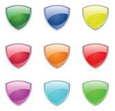 Färg sköld — Stockvektor