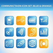Communication Icon Set — Stock Vector