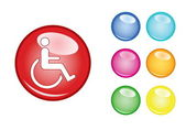 Orb sign disability — Stock Vector