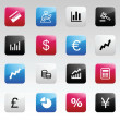 Finance color icons — Stock Vector
