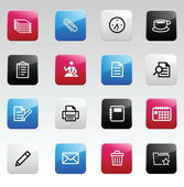 Office color icons — Stock Vector