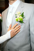 Boutonniere for jacket — Stock Photo