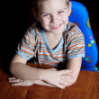 Stock Photo: Boy at table