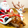 Santa Claus in a sleigh — Stock Photo