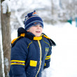 Boy in the snow — Stock Photo