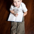 Royalty-Free Stock Photo: Boy wrote