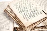 Dvě staré knihy — Stock fotografie
