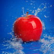 Stock Photo: Water drops around fruits