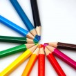 White background with colorfull pencils — Stock Photo
