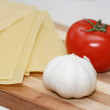 Lasagne sheets ready for cooking, — Stock Photo