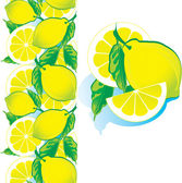 Ripe lemon — Stock Vector