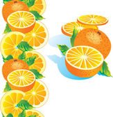 Ripe orange — Stock Vector