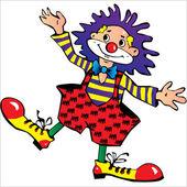 Happy clown — Stock Vector