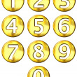 3D Golden Framed Numbers — Stock Photo