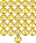 3D Golden Framed Alphabet — Stock Photo
