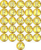 3D Golden Framed Alphabet — Stock Photo