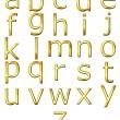 3D Golden Alphabet — Stock Photo #1219539