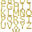 3D Golden Alphabet — Stock Photo #1219550