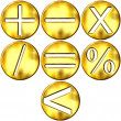 3D Golden Math Symbols — Stock Photo