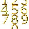 Royalty-Free Stock Photo: 3D Golden Numbers