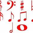 3D Music Notes — Stock Photo #1219808