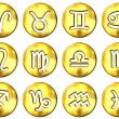 Royalty-Free Stock Photo: 3D Golden Zodiac Signs