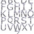 Stock Photo: 3d silver alphabet