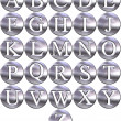 Stock Photo: 3D Silver Framed Alphabet