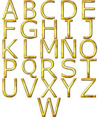 3D Golden Alphabet — Stock Photo