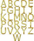3D Golden Alphabet — Stock Photo