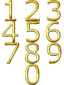 3D Golden Numbers — Stock Photo
