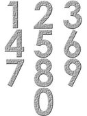 3D Stone Numbers — Stock Photo