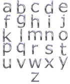 3D Silver Alphabet — Stock Photo