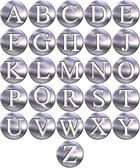 3D Silver Framed Alphabet — Stock Photo
